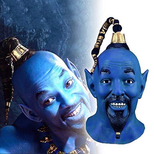 Aladdin und die magische Lampe Djinni Cosplay Maske Funny Prop Latex Vollgesichtsmasken
