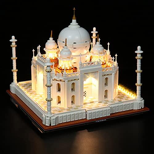MBKE Kit di luci LED per LEGO 21056 Architecture Taj Mahal, Kit di illuminazione compatibile con LEGO 21056