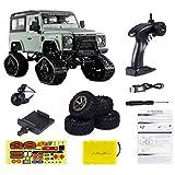 Haunen Coche teledirigido 4WD 1:16 escala 2,4 GHz mando a distancia todoterreno con WiFi HD cámara de carreras coche juguete para niños jóvenes (verde oliva)