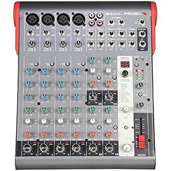 PROEL Mi12 mixer professionale a 12 canali con processore effetti a 24 bit