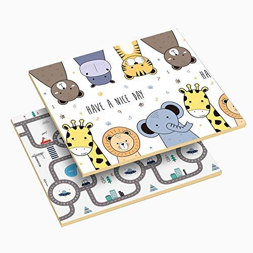 WZHIJUN Puzzle Play Mats Hopfällbar XPE skum barnmatta, babykrypning speldyna, 200 × 180 × 2 cm (Färg: A, Storlek: 180 × 160 × 2 cm)