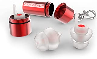 EarPeace HD Concert Ear Plugs - High Fidelity Hearing Protection for Music Festivals, DJs & Musicians (Standard, Red Case)