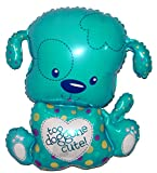 SPACE PET TOO CUTE DOG Blue 33 inch STRINGLESS FLYING PET Balloon ANTI-GRAVITY TOY HOVERS and FLOATS in MID-AIR - Includes Height Control Weights
