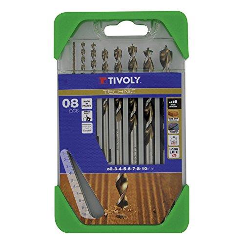 Tivoly Bohrer G11–Pack von 8Für Holz, Gama Technic Ø 2, 3, 4, 5, 6, 7, 8, 10mm)