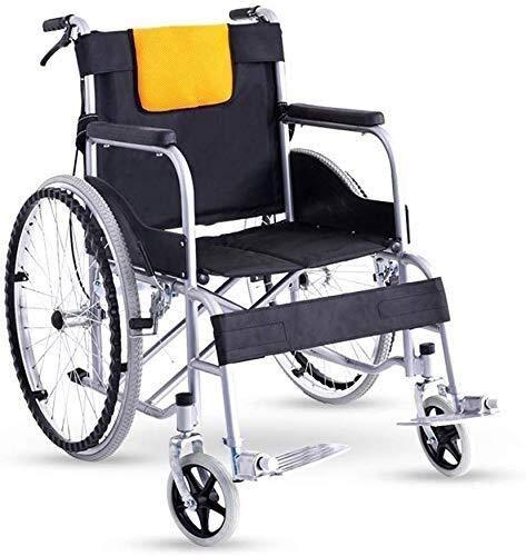 IREANJ Silla de ruedas ligera plegable para conducción médica, silla de ruedas, silla de ruedas para personas mayores, motocicleta antigua, viaje con discapacidad
