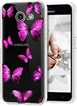 Vokuha Galaxy J7 2017/J7 Prime/J7 Sky Pro/J7 Halo/J7 V/J7 Perx/Galaxy Halo Case for Girls, Cute Clear Slim Shockproof Soft TPU Back Phone Protective Cover Cases for Samsung Galaxy J7 2017 (Butterfly)