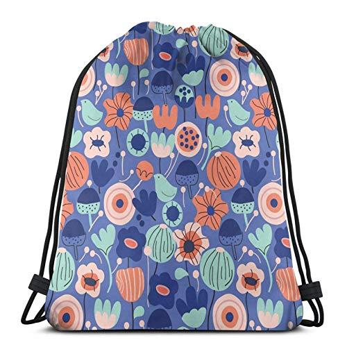 XCNGG Drawstring Bag Blue Garden Floor Pillow Training Gymsack