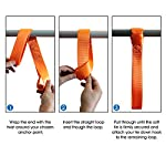"""JCHL Soft Loops Tie Down Straps (4pk) 12,000lbs Max Strength 18""""X1.7"""" Heavy Duty Motorcycle Tie Downs for use with Ratchet Strap - Secure Trailering of Motorcycles, Kayak, Jeep, ATV, UTV"""