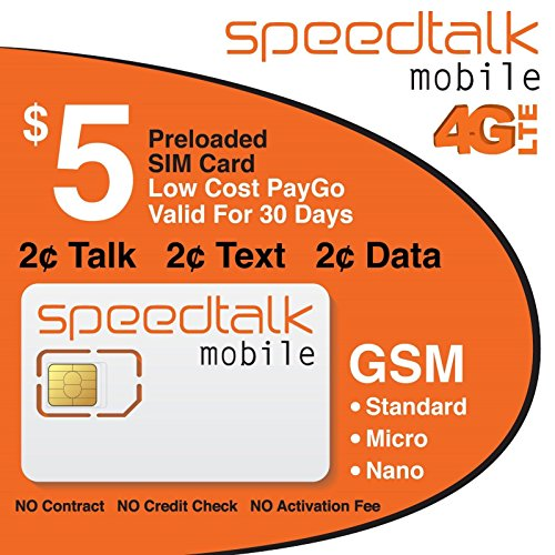 Our #3 Pick is the SpeedTalk Mobile Preloaded SIM