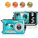 Unterwasserkamera Digitalkamera 24MP Digitalkamera Wasserdicht Full HD 1080P Self Shot