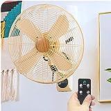 Ventilateur mural - Des couleurs à la mode avec des pales de ventilateur en métal, un vent fort, vous donnent une brise différente cet été, parfait pour la maison!ou bureau.Durée de vie utile supérieure à dix ans Ventilateur à très faible bruit à f...