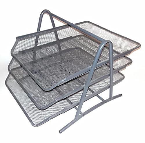 Ikea Bandeja para Cartas, Metal, Gris, 38x29x5 cm