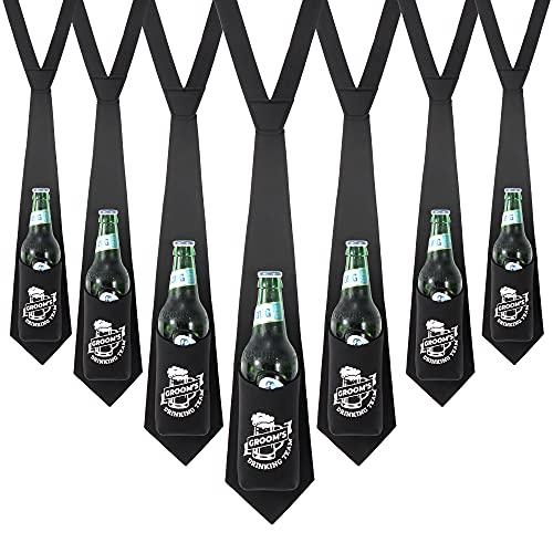 Groomsmen Necktie Beer Holder {10 pack} Groomsman Gift for Wedding I Bachelor Party Favors | Groomsmen Proposal Gifts