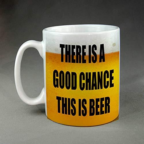 Er is een goede kans dit is bier grappige grap parodie keramische koffie mok thee Meme cadeau volwassen humor koffie Cup