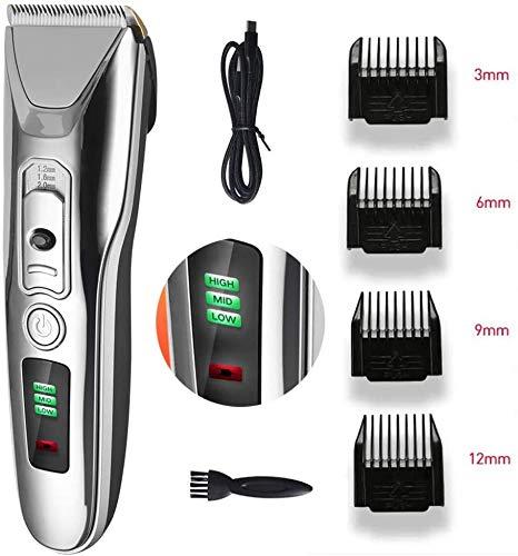 Tondeuse draadloze tondeuse, baard en lichaamshaar trimmer voor mannen en gezinnen, titanium en keramiek messen
