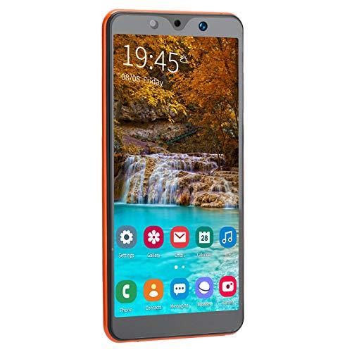 Uxsiya Potente procesador hasta 128 GB de Almacenamiento Ampliable Mejor Sistema Reemplazo de teléfono Inteligente, teléfono Inteligente con Doble SIM, para Trabajadores de Oficina(Orange)