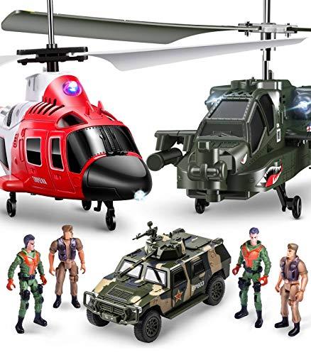 SYMA Hubschrauber ferngesteuert S109G S111G RC Helikopter 2 in 1 Set Flugzeug Funkfernbedienung Indoor Spielzeug Kinder ab 5 Jahre