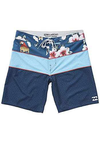 G.S.M. Europe - Billabong Tribong X Holi Daze Shorts, Uomo, Tribong X Holidaze, Blu Navy, 32