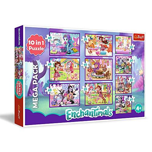 Multicolor Caja de Puzzle Trefl Enchantimals TR90354