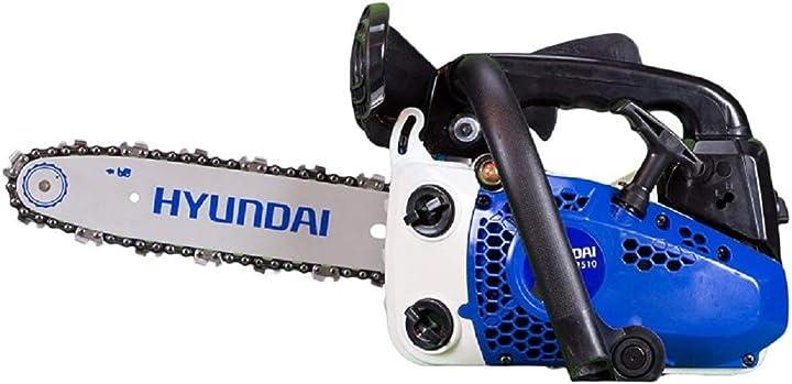 Motosega da potatura hyundai cod. 35020 2 tempi 25,4 cc 1,2 hp 900 w taglio 25 cm 8028815350204