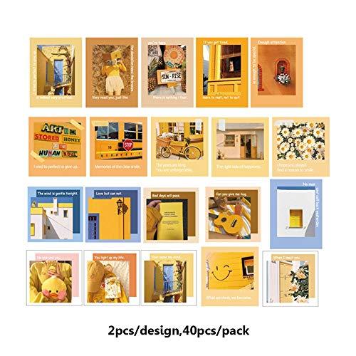 BLOUR 40 unids/Set Pegatinas Decorativas de PVC Vintage para Diario DIY, Funda para teléfono, álbum, decoración de álbum de Recortes, Etiquetas Adhesivas