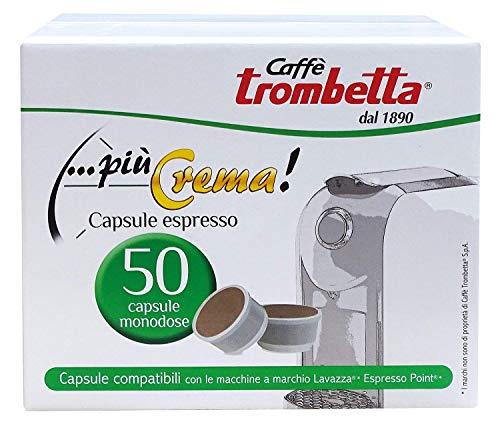 Caffè Trombetta Capsule Compatibili Lavazza Espresso Point, Più Crema - Capsule, 50 Unità