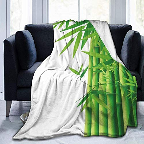 Manta De La Siesta Felpa Sofás Franela Bambú Buen sueño L127cm x W102cm