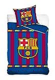 DH - F.C. Barcelona Juego Funda Nórdica Cama 90 Escudo Barça y Funda Cojín. FCB161011-12