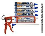 Dryzone Horizontalsperre Set, komplettes Injektionverfahrens System für Mauerwerks Trockenlegung und gegen aufsteigende Feuchtigkeit – WTA zertifiziert