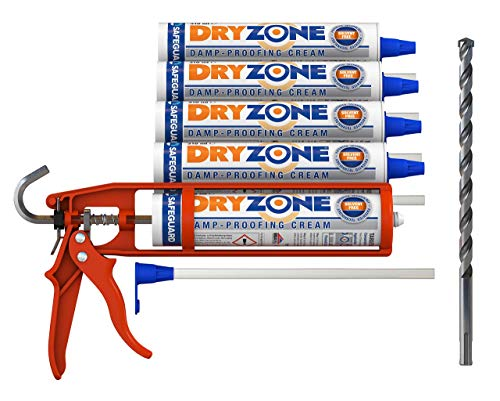 Dryzone Horizontalsperre Set, komplettes Injektionverfahrens System für Mauerwerks Trockenlegung...
