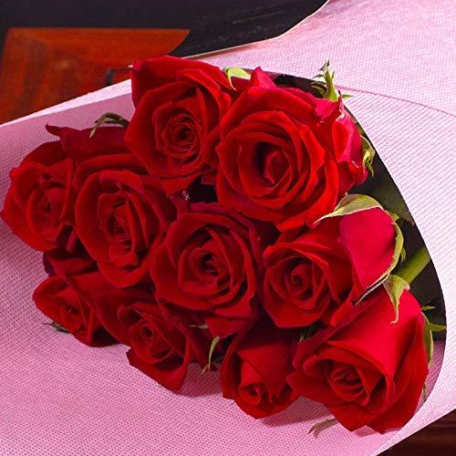 バラギフト専門店のマミーローズ 選べるバラ本数セレクト 還暦祝い 誕生日 プロポーズ 贈り物の豪華なバラの花束(生花) 赤 12本