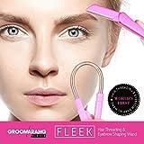 Groomarang Fleek Gesichtshaarentfernung für Frauen - Epistick + Rasierklinge zum stylen der Augenbrauen -