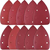 SIQUK 100 Piezas Hojas de Lija Mouse Papel de Lija 80/180/ 240/320/ 400/800/ 1000/1500/ 2000/3000 Granos para Metal Madera