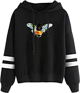 Womens Casual Bee Printed Sweatshirt Pullover Hoodies...