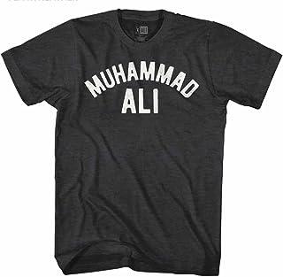 تي شيرت أسود مرقط للبالغين مطبوع عليه Muhammad Ali 60s Goat Greatest Boxer