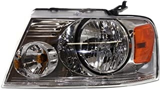 Headlight Compatible with 2004-2008 Ford F150 with Chrome Trim New Body Style Driver Side