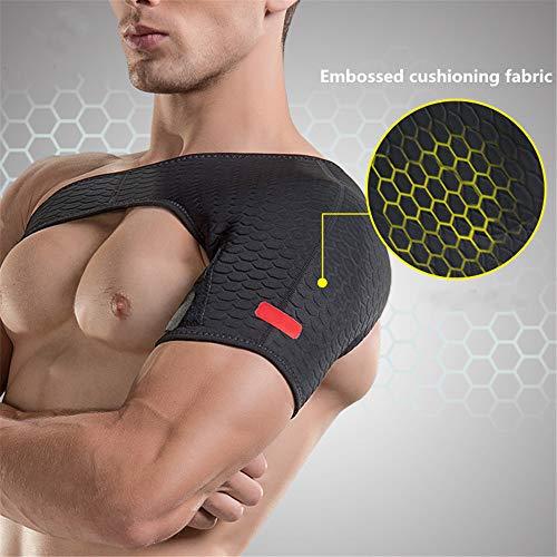 Links en Rechts verstelbare schoudersteun, reliëf kussen roterende manchet ondersteuning voor het voorkomen van letsel, ontwrichting van AC gewrichten, bevroren schouder, spuit, pijn, tendinitis (linkerschouder,L(49-55