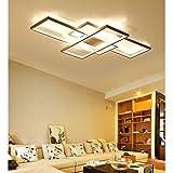 LED Wohnzimmerlampe Deckenleuchte Dimmbar 3000K-6500K Acryl-Schirm Fernbedienung...