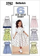 أنماط BUTTERICK b3762حذاء برقبة للأطفال '& للبنات فستان' ، مقاس 6–7-8