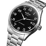ZwbfuWinner 458 Herrenuhr Halbautomatische Mechanische Uhr Zeit Kalender Mode Lässig Edelstahlarmband Männlich Armbanduhr Relogio Masculino