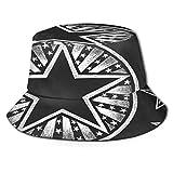 Sombrero de Pescador Unisex Forma de Estrella Vectorial Dibujada en Pizarra Plegable De Sol/UV Gorra Protección para Playa Viaje Senderismo Camping