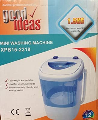 Mini Portable Washing Machine (644)- Ideal For Caravans, Flats, Students. Includes Anti Limescale Ball.