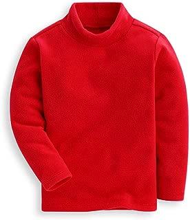 Girls Boys Shirts Fleece Turtleneck Base Tops Unisex