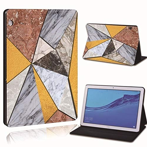 RZL PAD & TAB cases For Huawei MediaPad T3 8' /10' T5 10 10.1', Ultra-thin Printed PU Leather Smart Tablet Stand Folio Shockproof Case For Huawei MediaPad T3 T5