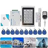 RFID Door Access Control System Kit, 125KHz EM-ID Card Password Keypad Door Access