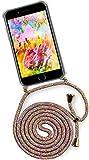 ONEFLOW® Handykette kompatibel mit iPhone 7 / iPhone 8 - Handyhülle mit Band zum Umhängen Case Abnehmbar Smartphone Necklace - Hülle mit Kette, Regenbogen Bunt