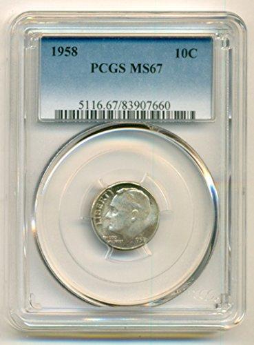 1958 Roosevelt Dime MS67 PCGS
