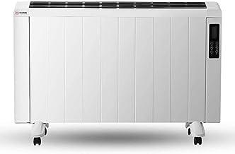 CHICAI Chauffage d'appoint électrique Cheminée de table, cadre en métal blanc, chauffe-salle, chaufferette, pléniers chauf...