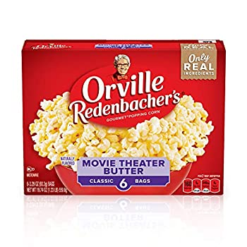 Orville Redenbacher s Movie Theater Butter Microwave Popcorn Gluten Free 3.29 Ounce Classic Bag 6-Count Pack of 6