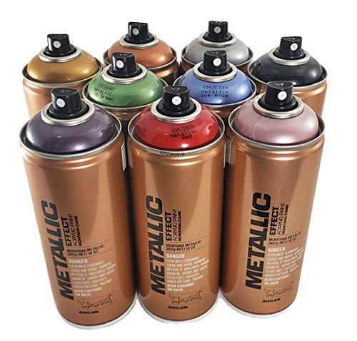 Montana Metallic Effect Acrylic Spray Paint Set of 9 400ml